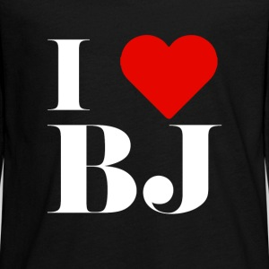 I LOVE BJ Long Sleeve Shirts - Teenagers' Premium Longsleeve Shirt