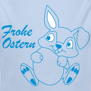 FROHE OSTERN - Happy Easter Bunny - Baby Bio-Langarm-Body