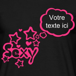 sexy bulle pense vide ajouter texte Tee shirts - T-shirt Homme