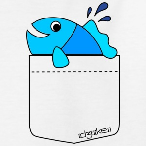 pocket friend - fish  - Kinder T-Shirt