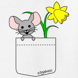 pocket friend - mouse with flower T-Shirts - Kinder T-Shirt