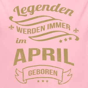 Legenden werden im April geboren Baby Bodys - Baby Bio-Langarm-Body