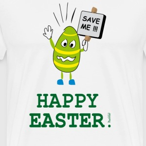 TShirt: Ostern: Happy Easter - Save the Egg - Männer Premium T-Shirt