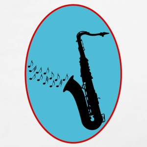 Saxophone / Jazz / Music T-Shirts - Women's V-Neck T-Shirt