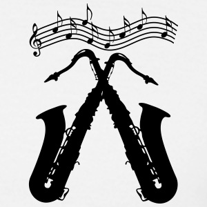 Saxophones / crossed saxophones T-Shirts - Men's T-Shirt