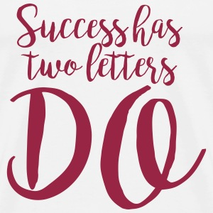 Handwritten Quote: Success T-Shirts - Men's Premium T-Shirt