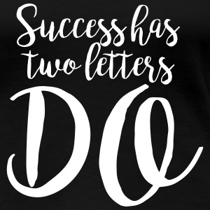 Handwritten Quote: Success T-Shirts - Frauen Premium T-Shirt