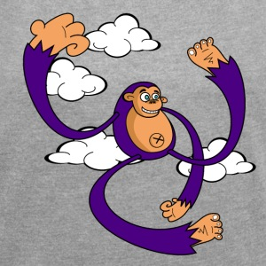 Monkey T-Shirts - Women's T-shirt with rolled up sleeves