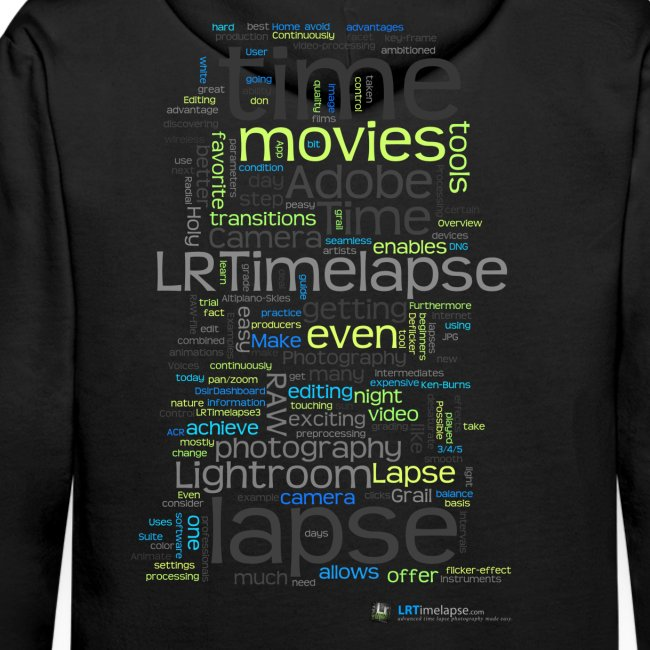 "Hoodie ""Time Lapse Cloud"" - Schwarz"
