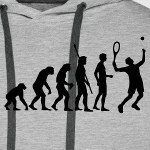 evolution_tennis_b_1c Sweat-shirts - Sweat-shirt à capuche Premium pour hommes