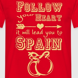 Heart leads you to Spain T-Shirts - Men's T-Shirt
