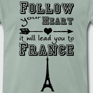 Heart leads you to France T-Shirts - Männer Premium T-Shirt