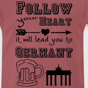 Heart leads you to Germany T-Shirts - Männer Premium T-Shirt