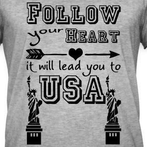 Heart leads you to USA T-Shirts - Men's Vintage T-Shirt