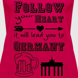 Heart leads you to Germany Tops - Women's Premium Tank Top
