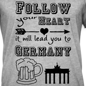 Heart leads you to Germany T-Shirts - Men's Vintage T-Shirt