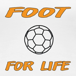 Foot for life T-shirts - Vrouwen Premium T-shirt