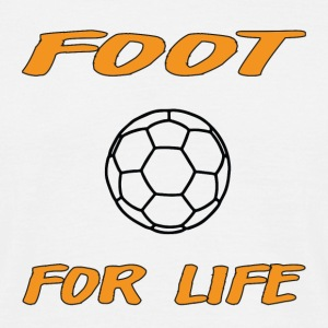 Foot for life T-shirts - Mannen T-shirt
