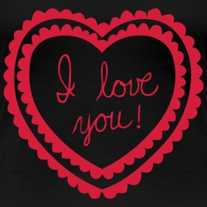 I_love_you_heart T-shirts - Premium-T-shirt dam