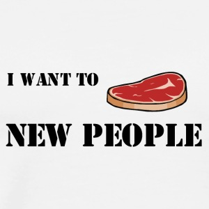 Meat new people ;) - Mannen Premium T-shirt