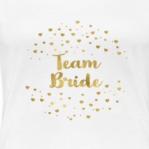team_bride_gold_heart T-Shirts - Frauen Premium T-Shirt