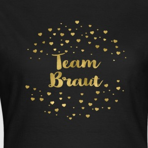 team_braut_gold_heart T-Shirts - Frauen T-Shirt