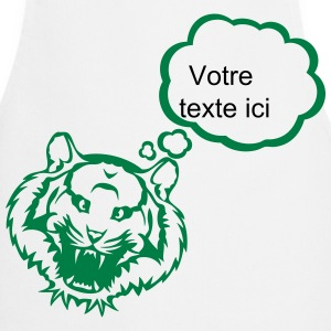 Tiger bubble blank thinking add text  Aprons - Cooking Apron