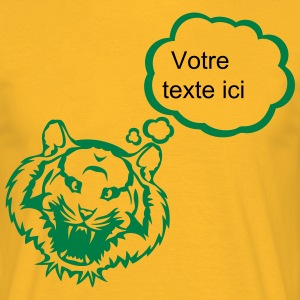 Tiger bubble blank thinking add text T-Shirts - Men's T-Shirt