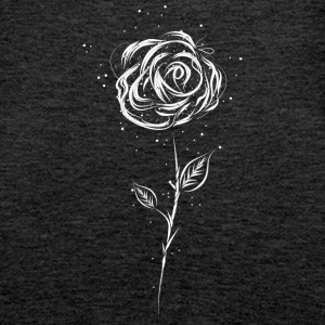 Drawing of a white rose Tops - Women's Premium Tank Top