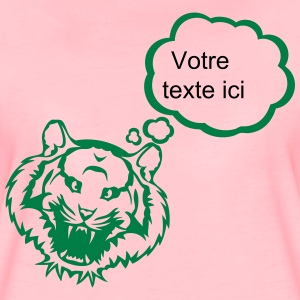 Tiger bubble blank thinking add text T-Shirts - Women's Premium T-Shirt