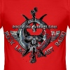 BloodSkull3.png - Slim Fit T-shirt herr