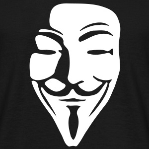 Guy Fawkes Mask for dark shirts - Männer T-Shirt