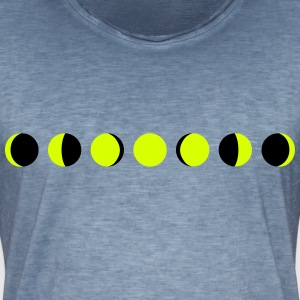 moon, phases of the moon - månen T-skjorter - Vintage-T-skjorte for menn