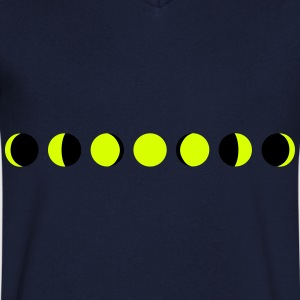 moon, phases of the moon - luna Camisetas - Camiseta de pico hombre