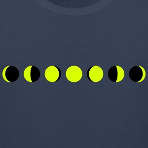 moon, phases of the moon, månen Sportsbeklædning - Herre Premium tanktop
