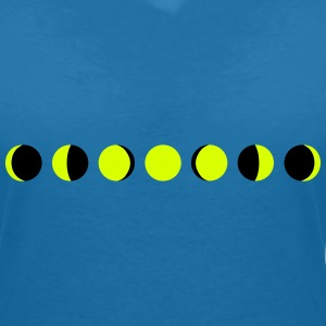 moon, phases of the moon, månen T-shirts - Dame-T-shirt med V-udskæring