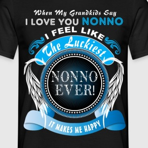 Grandkids Say I Love You Luckiest Nonno Ever Tshi T-Shirts - Men's T-Shirt