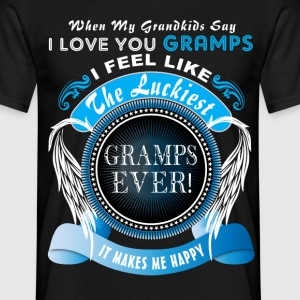 Grandkids I Love You Luckiest Gramps Ever Tshirt T-Shirts - Men's T-Shirt