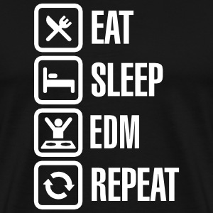Eat Sleep EDM Repeat Koszulki - Koszulka męska Premium