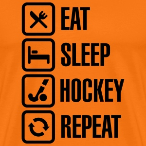 Eat Sleep Hockey Repeat Camisetas - Camiseta premium hombre