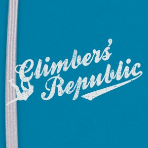 Climbers' Republic distressed look - Sweat-shirt contraste