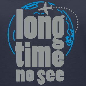 Long time no see T-shirts - Vrouwen T-shirt met V-hals