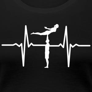 Heartbeat Acrobatic T-Shirts - Frauen Premium T-Shirt