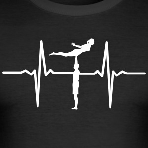 Heartbeat Acrobatic T-Shirts - Männer Slim Fit T-Shirt