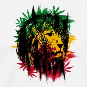 Cannabis Rasta Lion - Men's Premium T-Shirt