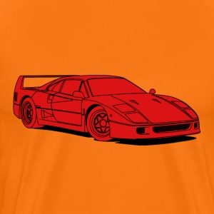 f40 red T-Shirts - Men's Premium T-Shirt