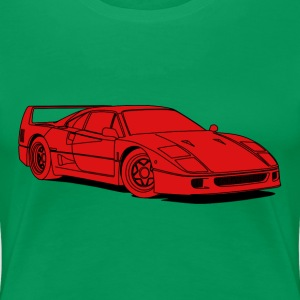 f40 red T-Shirts - Women's Premium T-Shirt