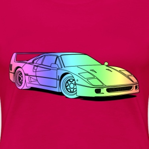 f40 colourful T-shirts - Dame premium T-shirt