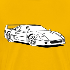 f40 white T-Shirts - Men's Premium T-Shirt