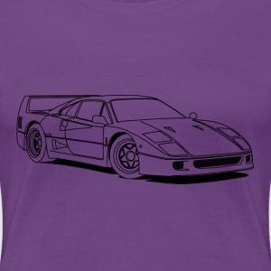 f40 outlines T-shirts - Dame premium T-shirt